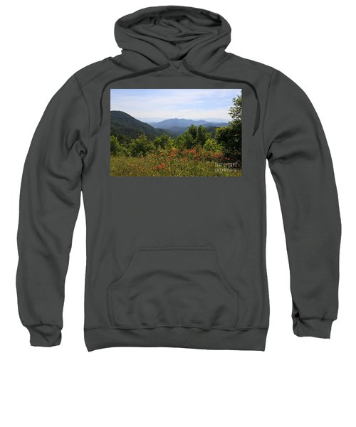 Wild Lilies With A Mountain View Sweatshirt