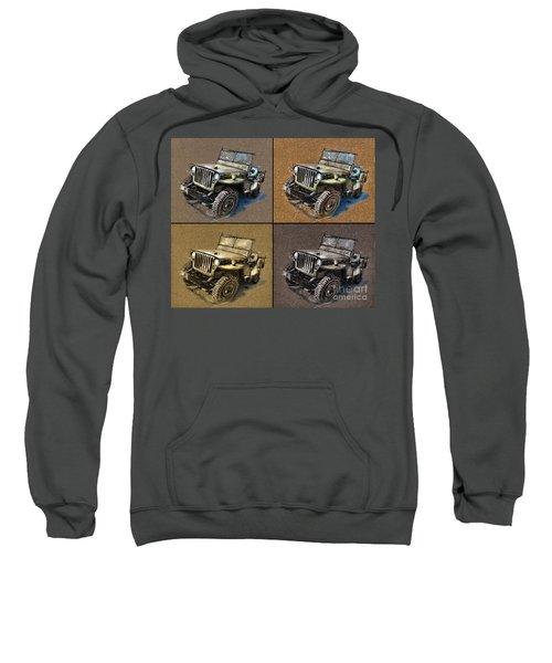 Willys Jeep Mb Car Drawing Sweatshirt