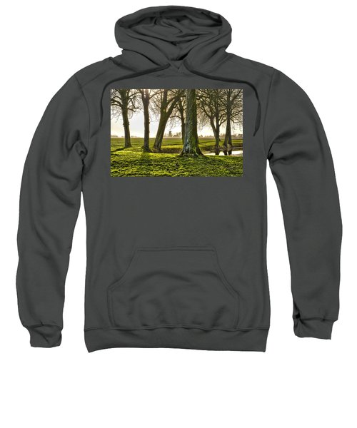 Windmill And Trees In Groningen Sweatshirt
