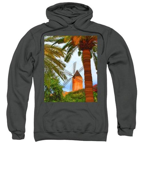 Windmill In Palma De Mallorca Sweatshirt
