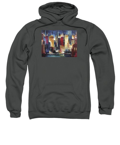 Windy City Nights Sweatshirt by Kathleen Patrick