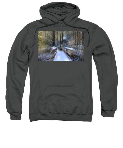 Winter Light On Bridge Sweatshirt