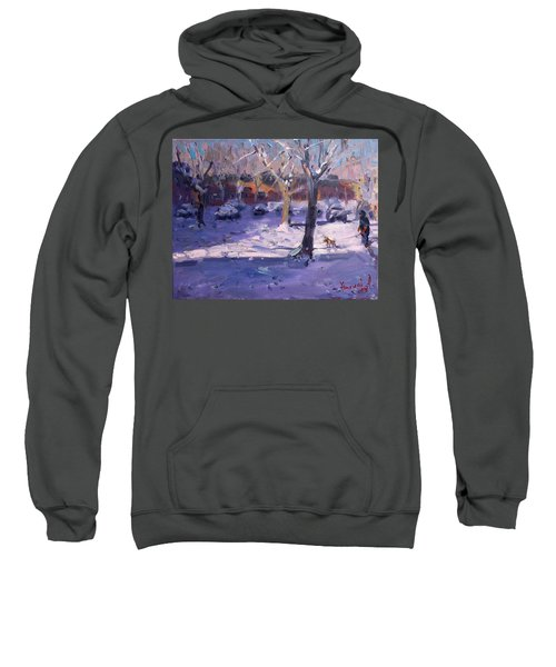 Winter Morning In My Courtyard Sweatshirt