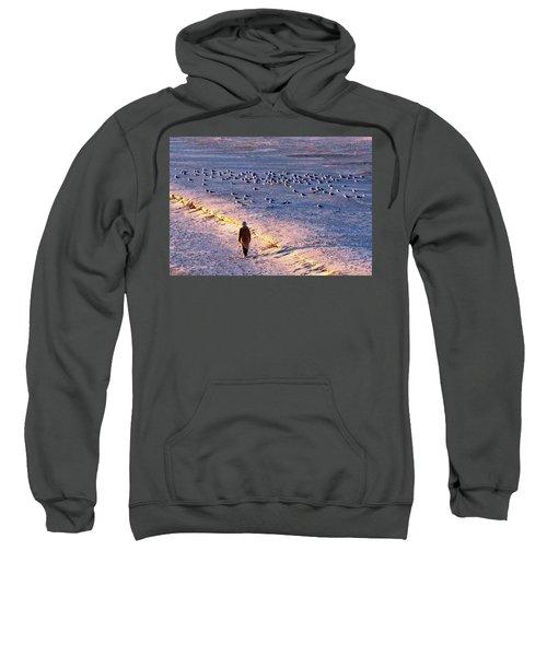 Winter Time At The Beach Sweatshirt