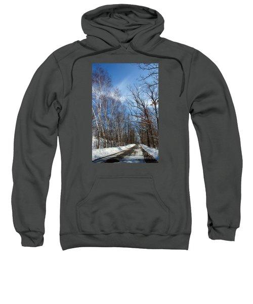 Wisconsin Winter Road Sweatshirt