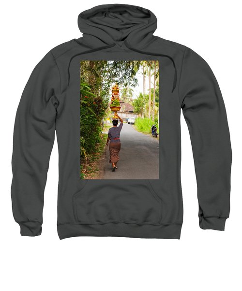 Woman Carrying Offering To Temple Sweatshirt
