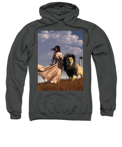 Woman With African Lion Sweatshirt