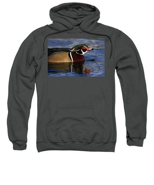 Wood Duck Waterdrops Sweatshirt