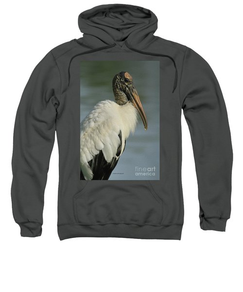 Wood Stork In Oil Sweatshirt