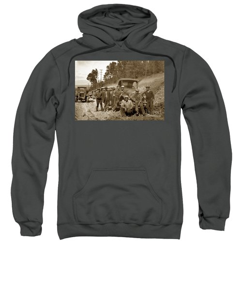 Workers On Highway One Monterey Carmel Hill California 1929 Sweatshirt
