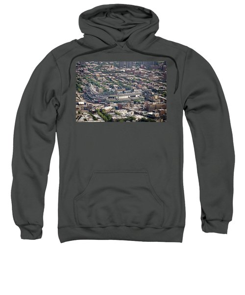 Wrigley Field - Home Of The Chicago Cubs Sweatshirt by Adam Romanowicz