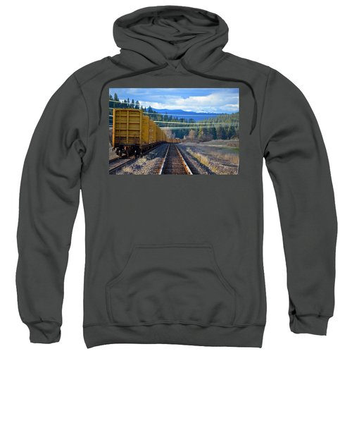 Yellow Train To The Mountains Sweatshirt