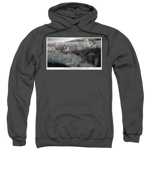 Infrared Train Station Bridge Sweatshirt
