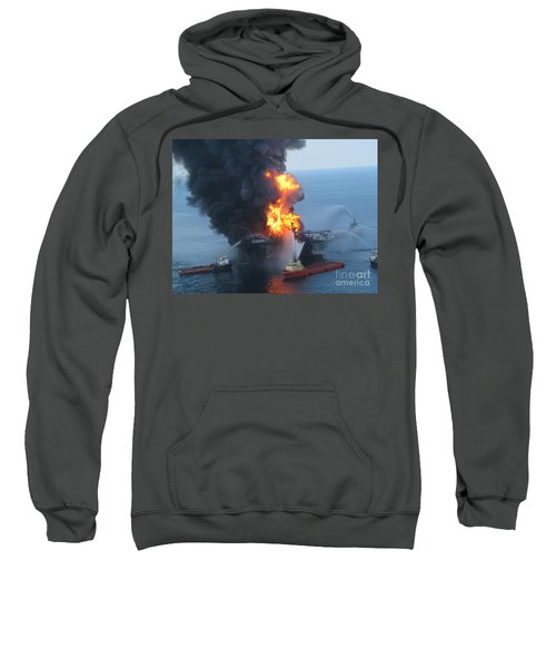 Deepwater Horizon Fire, April 21, 2010 Sweatshirt