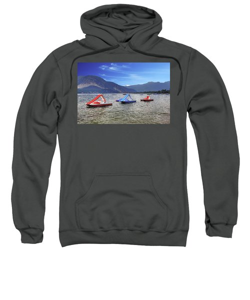 Pedal Boats On Lake Maggiore Sweatshirt