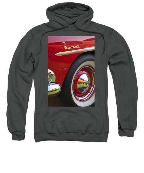 1954 Hudson Hornet Wheel And Emblem Sweatshirt