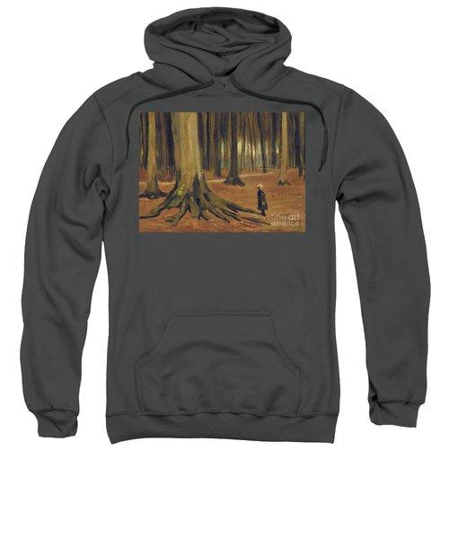 A Girl In A Wood Sweatshirt