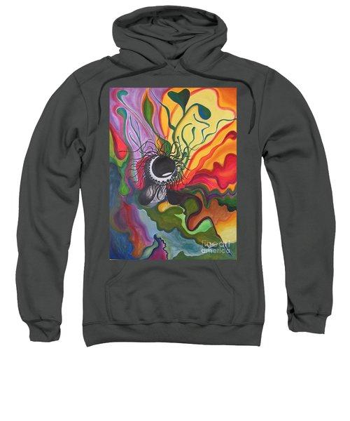 Abstract Underwater Anemone Sweatshirt