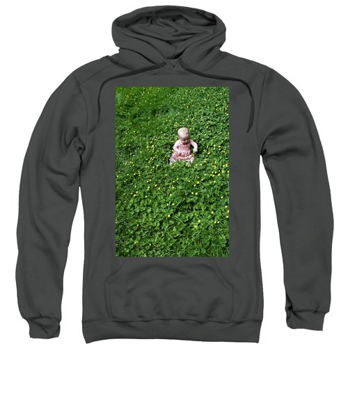 Baby In A Field Of Flowers Sweatshirt