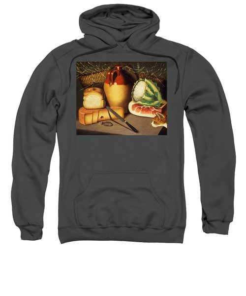 Cat Mouse Bacon And Cheese Sweatshirt by Anonymous