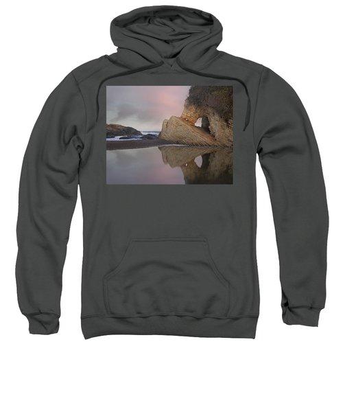 Cave Reflected In Pool At Dusk Spooners Sweatshirt