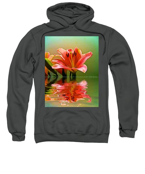 Flooded Lily Sweatshirt by Bill Barber