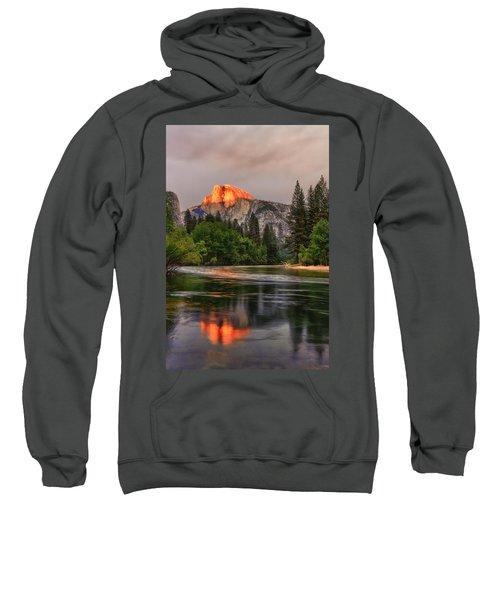 Golden Light On Halfdome Sweatshirt