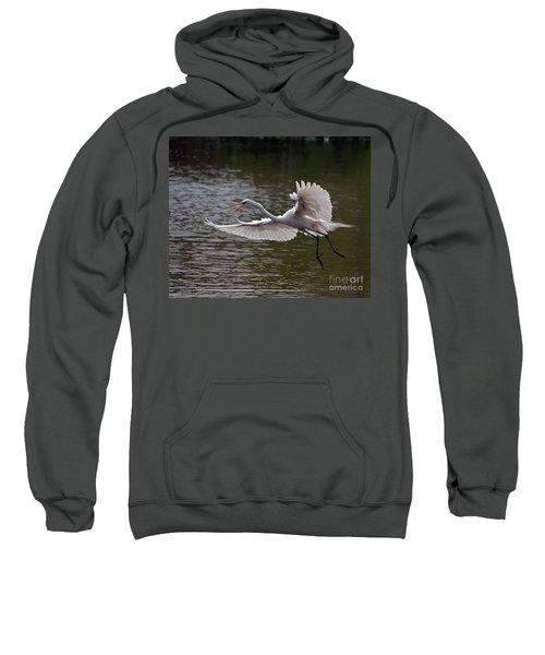 Great Egret In Flight Sweatshirt