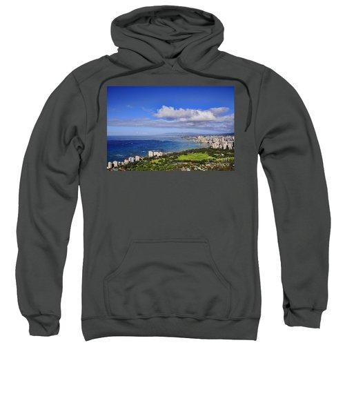 Honolulu From Diamond Head Sweatshirt