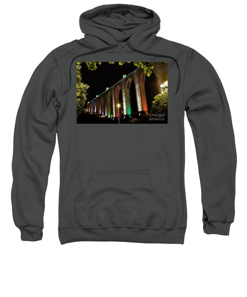Lisbon Historic Aqueduct By Night Sweatshirt