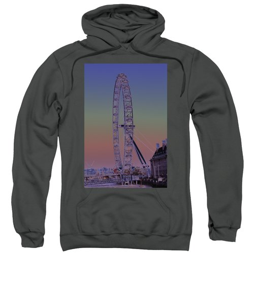 London Eye Digital Art Sweatshirt