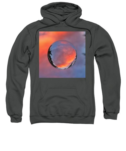 Sunset In A Marble Sweatshirt by Anna Porter