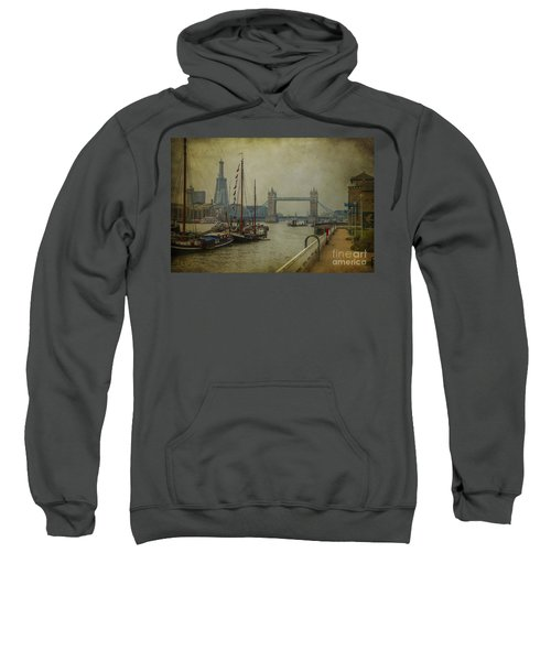 Moored Thames Barges. Sweatshirt by Clare Bambers