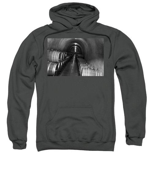 Napa Wine Barrels In Cellar Sweatshirt