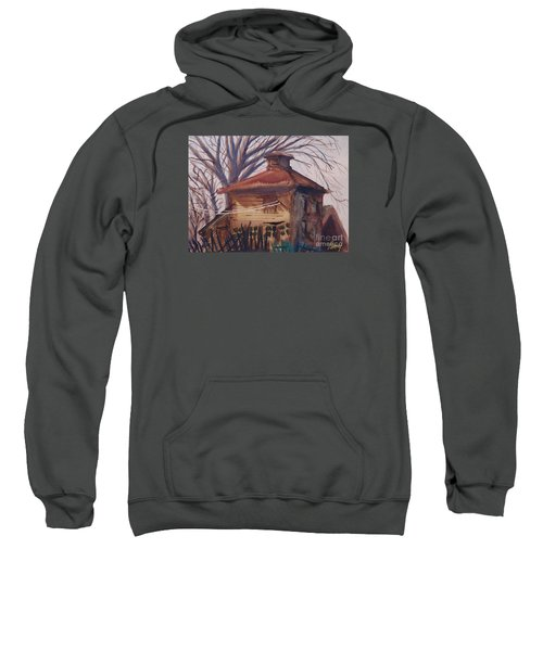 Sweatshirt featuring the painting Old Garage by Rod Ismay