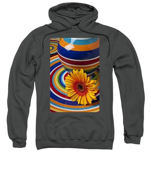 Orange Daisy With Plate And Vase Sweatshirt