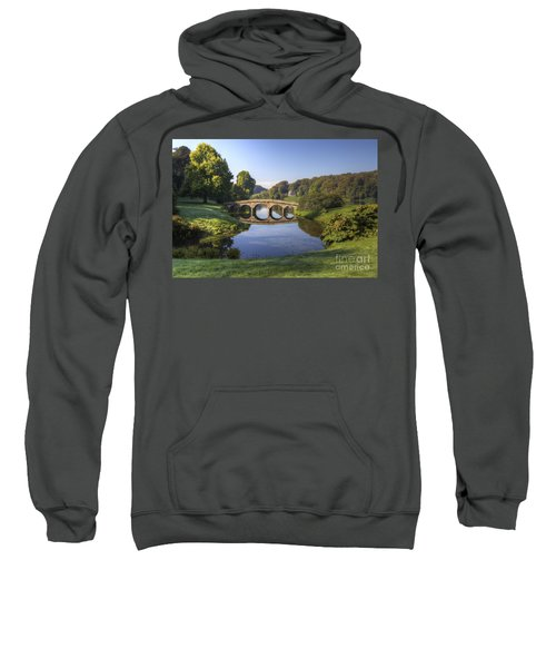 Palladian Bridge At Stourhead. Sweatshirt