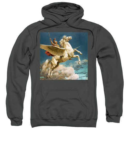 Pegasus The Winged Horse Sweatshirt by Fortunino Matania
