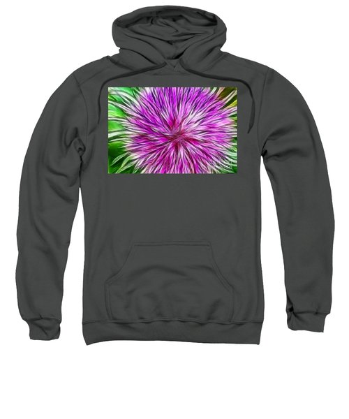 Purple Flower Fractal Sweatshirt
