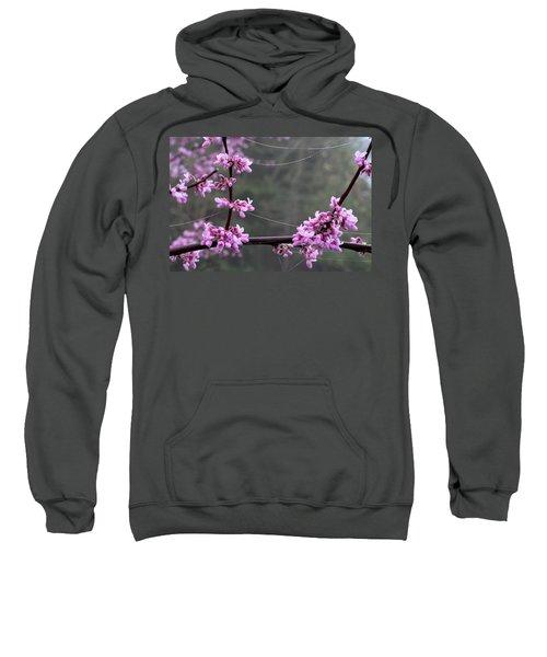 Redbud With Webs And Dew Sweatshirt