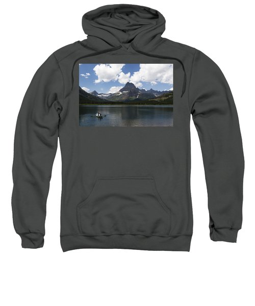 Rowboat At Many Glacier Sweatshirt