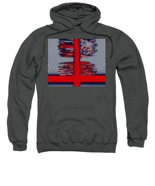 Sweatshirt featuring the digital art The Target by Mihaela Stancu