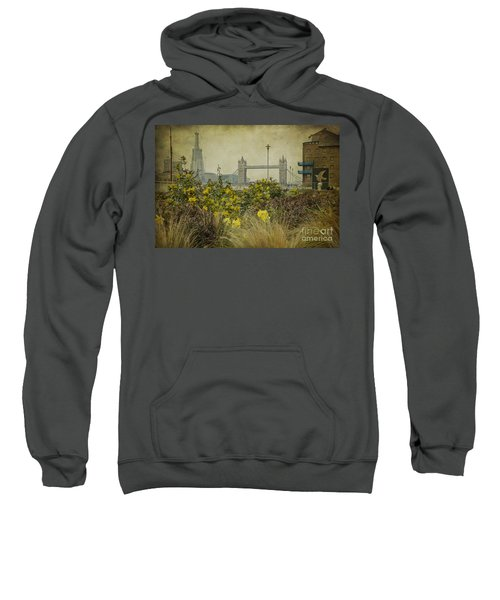 Tower Bridge In Springtime. Sweatshirt by Clare Bambers