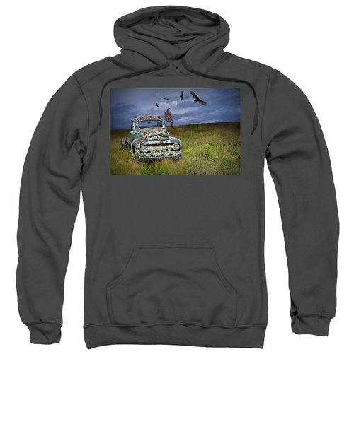 Vultures And The Abandoned Truck Sweatshirt