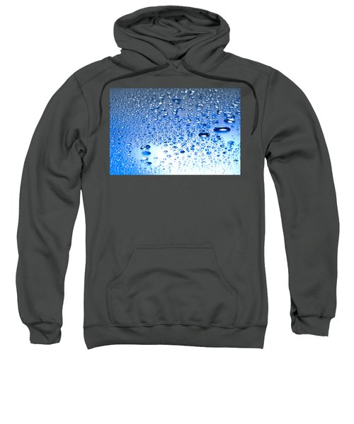 Water Drops On A Shiny Surface Sweatshirt