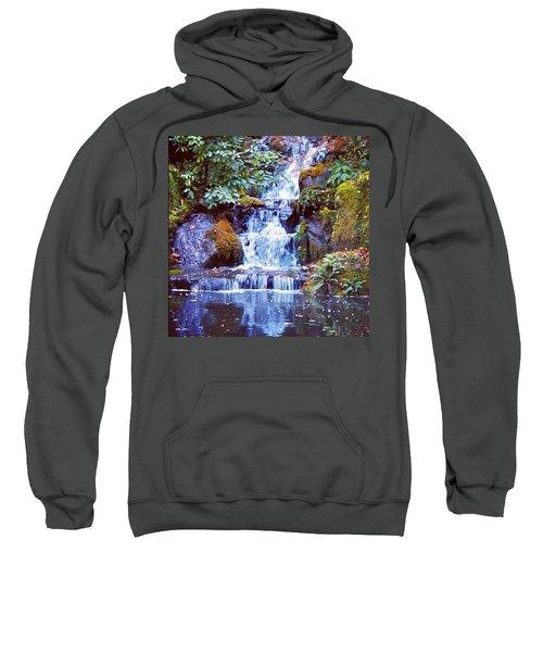 Waterfall - Portland Japanese Garden Portland Or Sweatshirt
