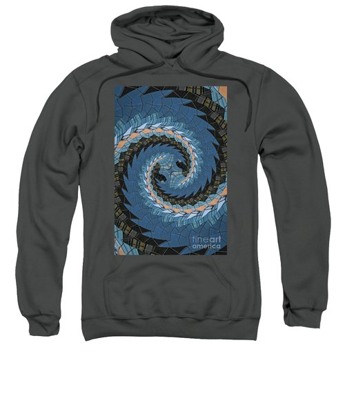 Wave Mosaic. Sweatshirt by Clare Bambers