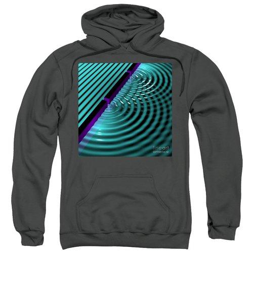 Waves Two Slit 3 Sweatshirt