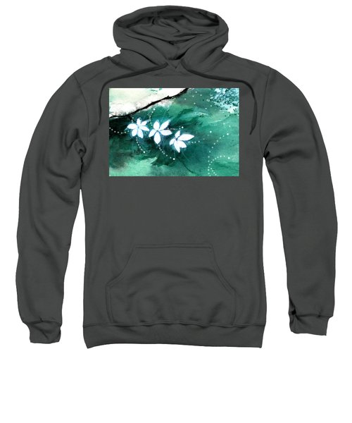 White Flowers Sweatshirt