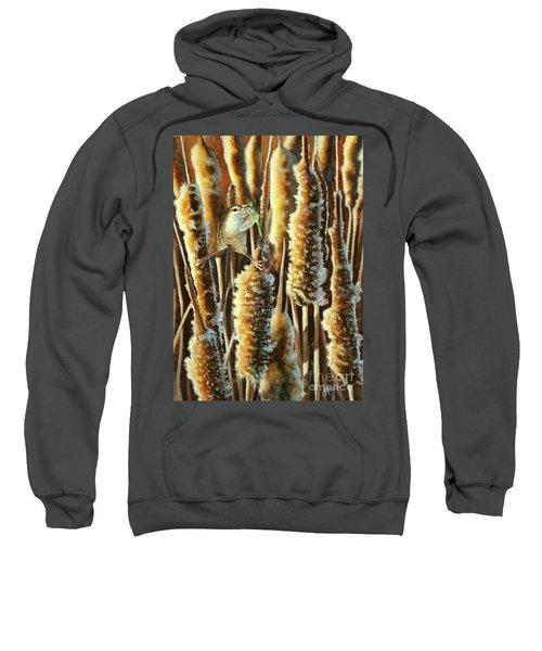 Wren And Cattails 2 Sweatshirt